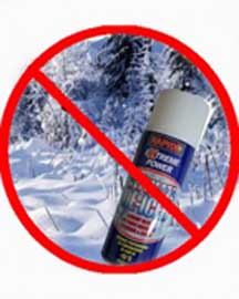 spray can in winter