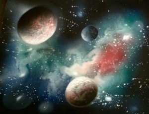 a airbrush painting secrets galaxy 6