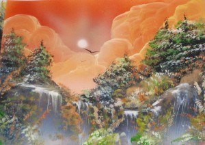 a airbrush waterfall 3