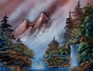 a brown landscape