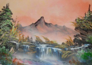 a airbrush waterfall 1