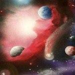 a red galaxy