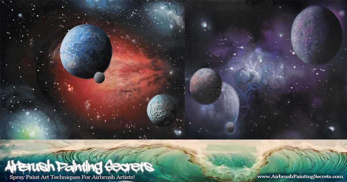 Airbrush Galaxies and Waves.